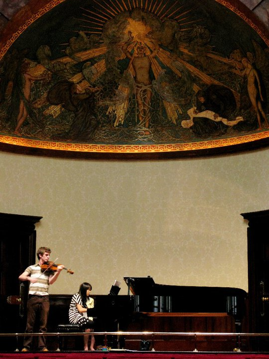 Rehearsing at Wigmore Hall